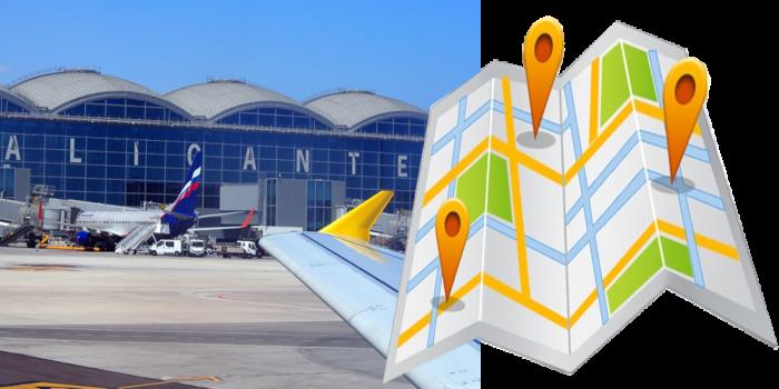 Desde Aeropuerto Alicante (ALC) con destino: Mil Palmeras. El Mojón. Torre de la Horadada. Pilar…